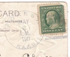 Forest Kansas DPO-4 Barber County Closed Post Office Cancel Postmark On 1910s Vintage Postcard - Postal History
