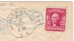 Whiteville Louisiana St. Landry Parish Doane Post Office Cancel Postmark On 1900s Vintage Postcard - Postal History