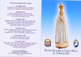 Santino - Madonna Pellegrina Di Fatima In Molise - 22-29 Maggio 2016 - Images Religieuses