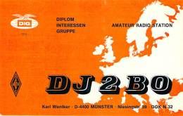 Amateur Radio QSL Card - DJ2BO - Munster, Germany - 1975 - 2 Scans - Radio Amateur