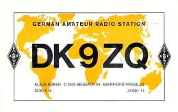 Amateur Radio QSL Card - DK9ZQ - Germany - 1976 - 2 Scans - Radio Amateur