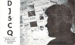 Amateur Radio QSL Card - DJ5CQ - Ebing, Germany - 1975 - 2 Scans - Radio Amateur