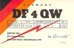 Amateur Radio QSL Card - DF4QW - Hoxter, Germany - 1975 - Radio Amateur