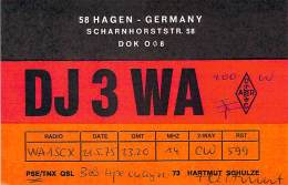 Amateur Radio QSL Card - DJ3WA - Hagen, Germany - 1975 - Radio Amateur