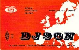 Amateur Radio QSL Card - DJ9ON - Erlangen, Germany - 1976 - 2 Scans - Radio Amateur