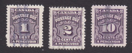 Canada, Scott #J15-J16, J20, Used, Postage Due, Issued 1935 - Port Dû (Taxe)