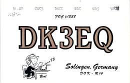 Amateur Radio QSL Card - DK3EQ - Solingen, Germany - 1975 - 2 Scans - Radio Amateur
