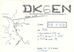Amateur Radio QSL Card - DK6EN - Germany - 1975 - Radio Amateur