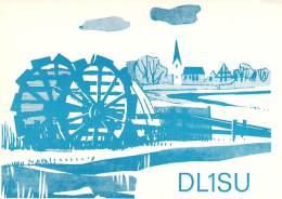 Amateur Radio QSL Card - DL1SU - Germany - 1975 - 2 Scans - Radio Amateur