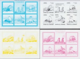 2009 Comoros Stamp  Sea Lion Four Color Proof  MS  Imperforate - Dolfijnen