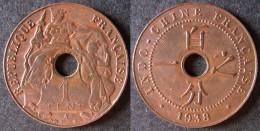 INDOCHINE  1 Cent 1938   INDOCINA  INDOCHINA    PORT OFFERT - Camboya