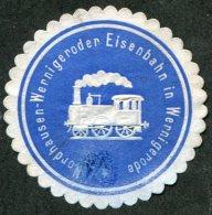 Germany Allemagne Deutschland RAILWAY Letter / Packet Seal Siegelmarke Vignette EISENBAHN Chemin De Fer STEAM LOCOMOTIVE - Trains