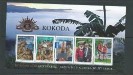 Australia 2010 Kokoda Trail WWII Anniversary PNG Joint Issue Miniature Sheet MNH - 2000-09 Elizabeth II
