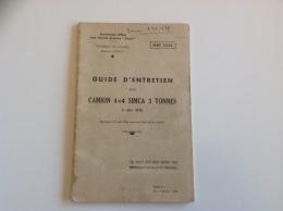 Guide D'Entretien Camion SIMCA 3 Tonnes - 1956 - Libri
