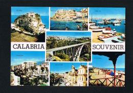 CALABRIA - ITALIA   -   CPSM  Multivues  - Voyagée  1989 Avec Timbre- Paypal Free - Autres Villes