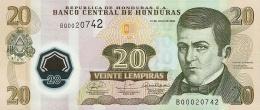 HONDURAS 20 LEMPIRAS 2010 P-95a UNC POLYMER [ HN95a ] - Honduras
