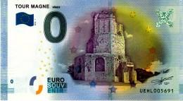 Billet Touristique 0 Euros Souvenir Tour Magne Nimes UEHL005691 (mauvaise Couleur Au Scan) - Essais Privés / Non-officiels