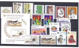 OCT197  UNO WIEN 1984/85  MICHL  38/54  Zwei Postrische JAHRGÄNGE SIEHE ABBILDUNG - Centre International De Vienne