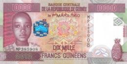 GUINEA 10000 FRANCS 2012 P-46a UNC  [ GN336a ] - Guinee
