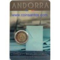 VF MOEDA 2 EUROS  COMEMORATIVA DE ANDORRA  2015 - Andorra