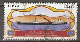 LIBYE    -     Oblitéré.    Bateau  /   Pétrolier - Libye