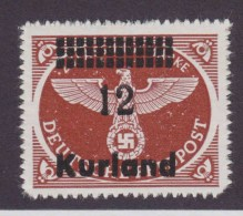 Dt.Bes.2.WK Kurland MiNr. 4By ** - Occupation 1938-45