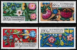 Série De 4 T.-P. Gommés Neufs** - Bordures Enluminées D'un Livre Moyennâgeux - N° 1091-1092-1093-1094 (Yvert) - RFA 1985 - [7] Repubblica Federale