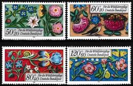 Série De 4 T.-P. Gommés Neufs** - Bordures Enluminées D'un Livre Moyennâgeux - N° 1091-1092-1093-1094 (Yvert) - RFA 1985 - [7] Federal Republic