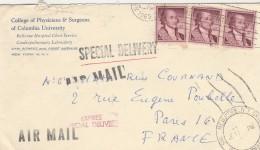 Etats Unis Yvert 639 X 3 Sur Lettre Avion Exprés Entête College Physicians  Surgeons Columbia NY 1965 Pour Paris - United States