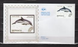 """Enveloppe 1er Jour En Soie De 2007 """" FAUNE MARNE / CETACE """" N° YT PREO 114. Parf. état. FDC - Dolphins"""