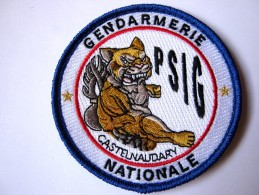 INSIGNE TISSUS PATCH GENDARMERIE NATIONALE LE PSIG DE CASTENAUDARY 11 SUR VELCROS - Police & Gendarmerie