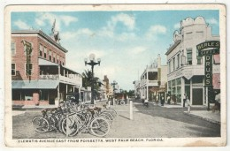 Clematis Avenue East From Poinsetta, West Palm Beach, Florida - Bicycle Rack - Berle´s Drugs - Palm Beach