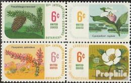 USA Mi.-Nr.: 986-989 Viererblock (kompl.Ausg.) Postfrisch 1969 Botanischer Kongreß - Unused Stamps