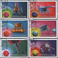 Ajman 1216A-1221A (kompl.Ausg.) Gestempelt 1971 Erforschung Des Weltraums - Emirats Arabes Unis