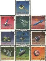 Ajman 257A-266A (kompl.Ausg.) Gestempelt 1968 Erforschung Des Weltraums - Ver. Arab. Emirate