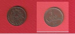 Lettonie  --   1 Santims 1924  --  KM # 1  --  état  TTB - Latvia