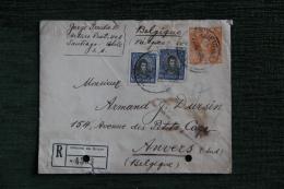 Enveloppe Timbrée De Santiago Du CHILI à Anvers En BELGIQUE. - Chile