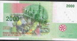 COMORES  P17 2000 FRANCS  2005 Serial # A091445      UNC. - Comores