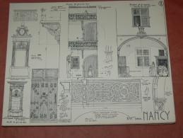 NANCY XVI ARCHITECTURE/ 1CROQUIS LAPRADE DE 1940 /  RUE DES ETATS / PUITS GRANDE RUE   31X24 CM - Architecture