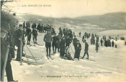 Cpa GIROMAGNY 90 Sur Les Pentes Du Fort - Skieurs Militaires - Giromagny