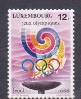 1988 Seoul Luxembourg Olympic Games MNH - Summer 1988: Seoul