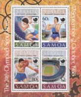 1988 Seoul Samoa Olympic Games Miniature Sheet MNH - Zomer 1988: Seoel