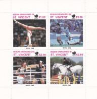 1988 Seoul St. Vincent Grenadines  Bequia, Miniature Sheet MNH - Summer 1988: Seoul