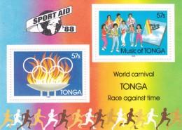 1988 Seoul Tonga Miniature Sheet MNH - Zomer 1988: Seoel