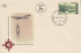 Enveloppe  FDC  1er  Jour  ISRAEL   Route  Vers  JERUSALEM   1954 - FDC