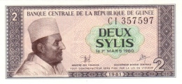 GUINEA 2 SYLIS 1981 P-21a UNC  [ GN311a ] - Guinea
