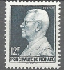 """Monaco YT 305A """" Prince Louis II 12F. Vert-noir """" 1948-49 Neuf** - Unused Stamps"""