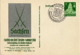Drittes Reich 1938 Ganzsache Mi P 269, Mit SST [230716KIV] - Deutschland