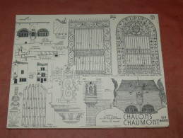 CHALONS  / CHAUMONT SUR MARNE ARCHITECTURE/ 1CROQUIS LAPRADE DE 1940 / CHATEAU DU MARCHE / MAISON XVI   31X24 CM - Architecture