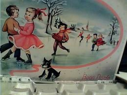 BOUN NATALE ILLUSTRATA BAMBINI  CANE DOG   VB1957 FN3791 - Natale